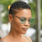 Black female low cut hairstyles