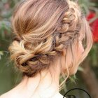 Bridesmaid hair plait