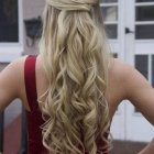 Curls for long hair prom