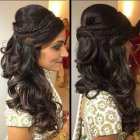 Hairdo for wedding reception