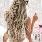Long hair prom ideas