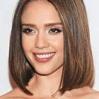 Medium length one length hairstyles
