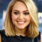 Medium to short hairstyles for round faces