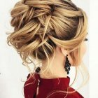 Mid hair updo