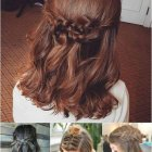 Party updos for medium length hair