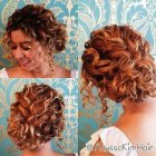 Prom hairstyles for curly hair updo