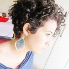 Short curly womens hair