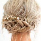 Short hair updo prom