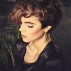 Short haircuts for ladies with curly hair