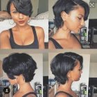Short length hairstyles for black hair