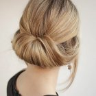 Simple updo bun