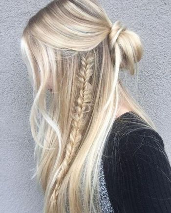 Cute up down hairstyles
