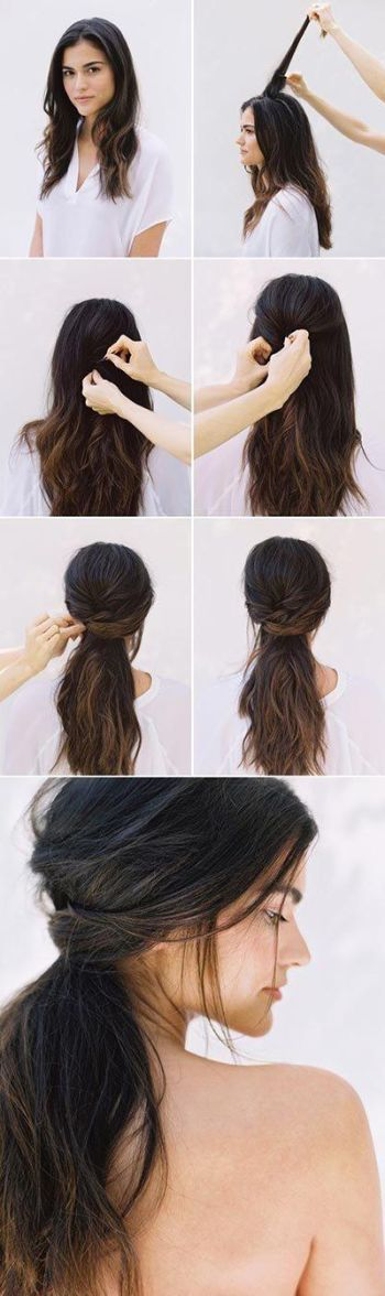 Easy to do half up half down hairstyles