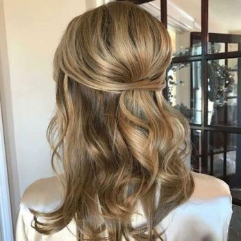 Half down and half up hairstyles