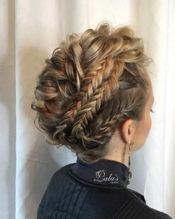 Half up prom hairstyles for medium hair
