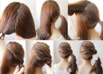 Quick hairstyle at home