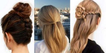 Simple and unique hairstyle