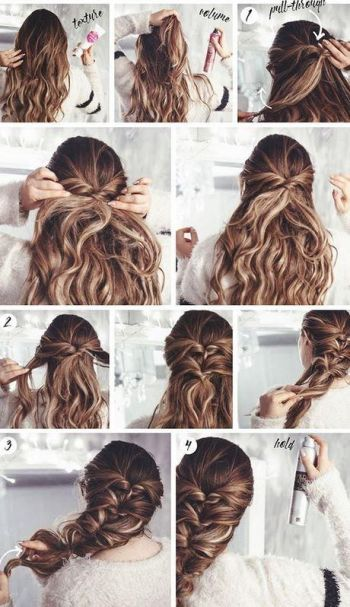 Very beautiful and easy hairstyles