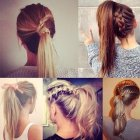 Up hairstyles for school