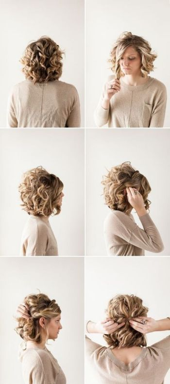 Hairstyle ideas for short curly hair