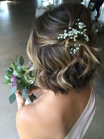 Short hair wedding styles bridesmaid