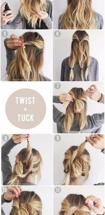 Shoulder length hair updos quick and easy