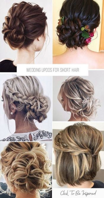 Wedding day hairstyles for short hair