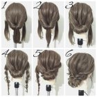 Easy updos for straight hair