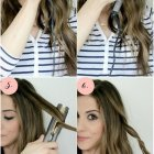 Hairstyles using a flat iron