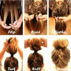 Quick easy updo hairstyles