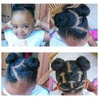 Show some simple hairstyles